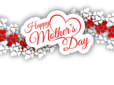 Elegant vector background design for Mother\'s day. Ilustração