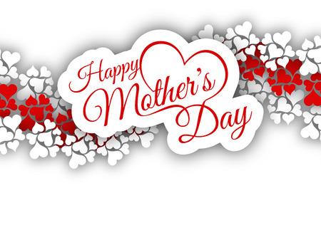 Elegant vector background design for Mother\'s day. Vettoriali