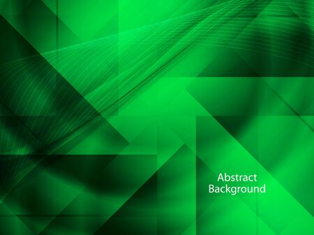 elegant green color background with polygonal shapes. Vector