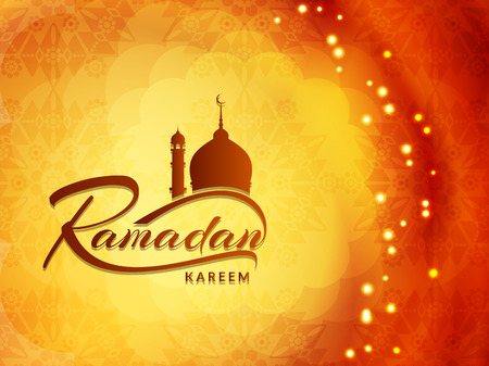 islamic pray: religious Ramadan Kareem background design.