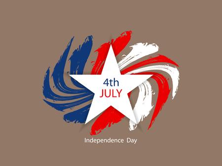 アメリカの国旗のテーマ背景デザインの独立記念日。  イラスト・ベクター素材
