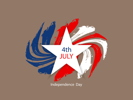 patriotic: American flag theme background design for independence day. Illustration