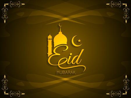Religious Eid Mubarak background design. Vector