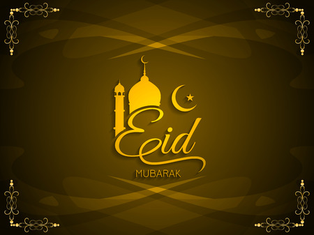 Religious Eid Mubarak background design.