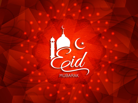 mubarak: Religious Eid Mubarak background design.