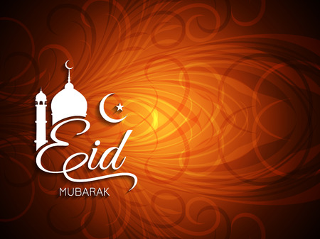muslim pray: Eid Mubarak background design.