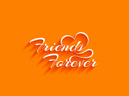 design background: Friends Forever text design background