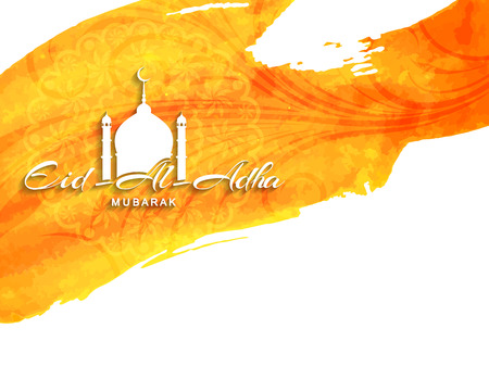 mubarak: Beautiful Eid Al Adha mubarak religious background design. Illustration