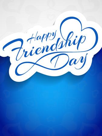 amicizia: Disegno di scheda felice vettore Friendship Day.