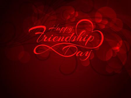 friendship day: Happy Friendship Day vector card design.