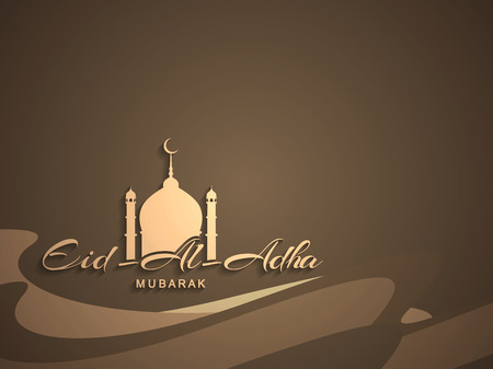 Beautiful text design of Eid Al Adha mubarak Illustration