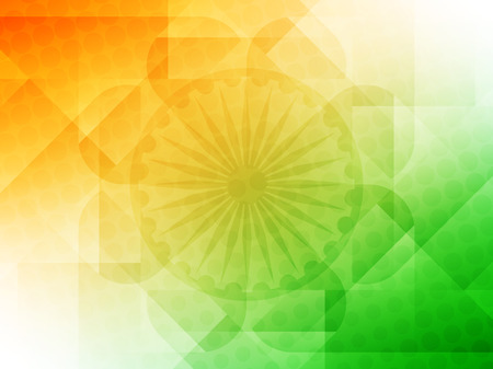 Elegant Indian flag theme vector background.