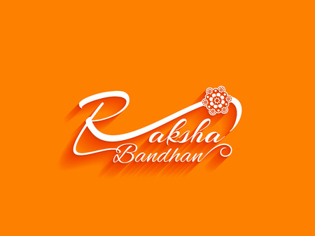 raksha: Raksha bandhan text design