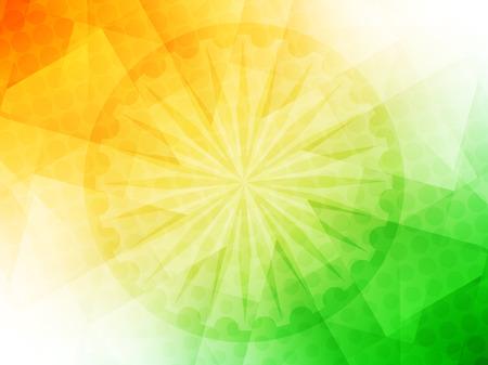 Elegante glanzende Indiase vlag thema vector achtergrond. Stock Illustratie