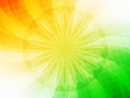 26 january: Elegant shiny Indian flag theme vector background.