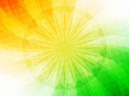 january: Elegant shiny Indian flag theme vector background.