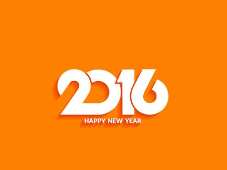 happy new year text: Beautiful text design of happy new year 2016