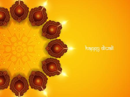 seasons greetings: Card design religiosa per Diwali festival con belle lampade