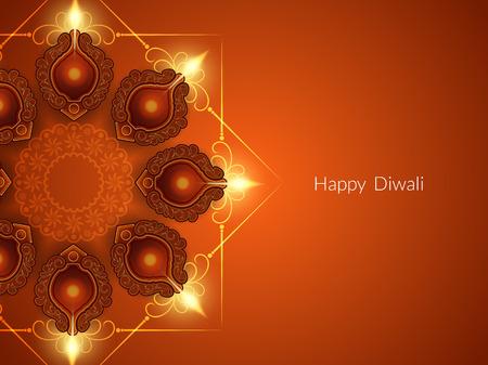 diwali: Happy Diwali background design. Illustration