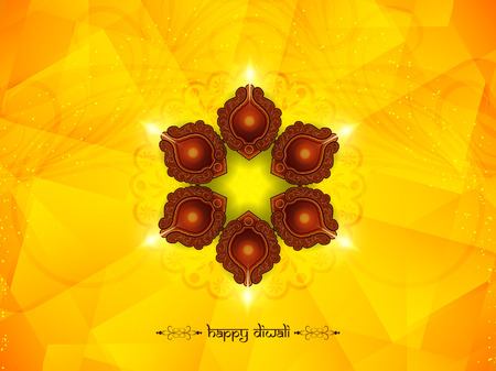 traditional festivals: Happy Diwali background design. Illustration