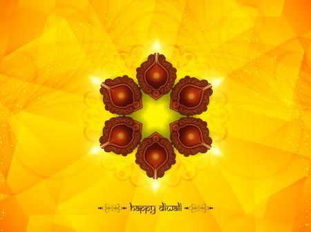 diwali celebration: Happy Diwali background design. Illustration