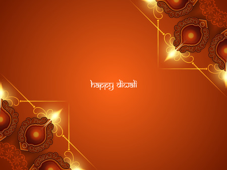 Abstract design: Happy Diwali background design. Illustration