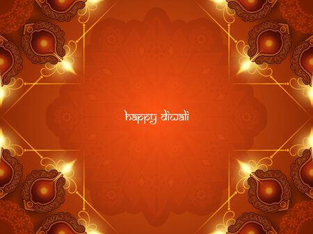 joyful: Happy Diwali background design. Illustration