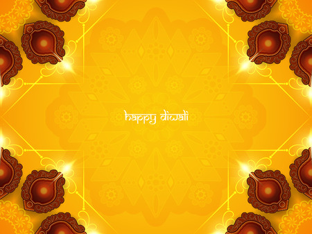 pray: Happy Diwali background design. Çizim