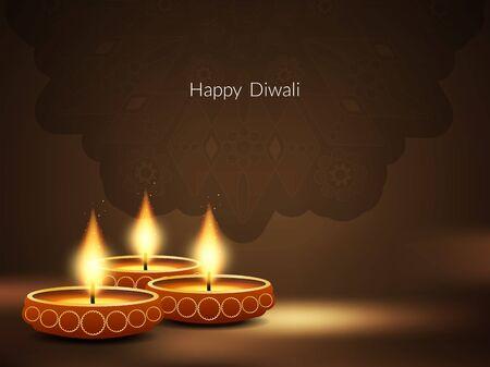 religious culture: Happy Diwali background design. Illustration