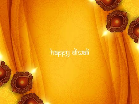 Glückliches Diwali Hintergrund Design. Standard-Bild - 44361749