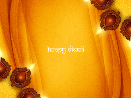 holiday celebrations: Happy Diwali background design. Illustration