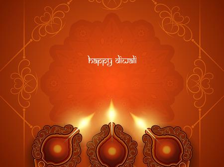 religious celebration: Happy Diwali background design. Illustration