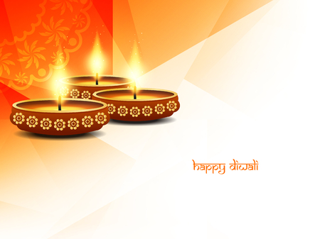 happy holidays card: Happy Diwali background design. Illustration