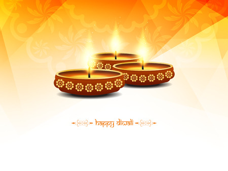 Happy Diwali background design. Illustration