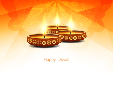 Happy Diwali background design. 矢量图像