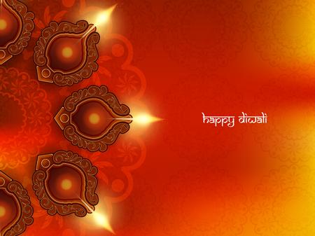 Glückliches Diwali Hintergrund Design. Standard-Bild - 45042286