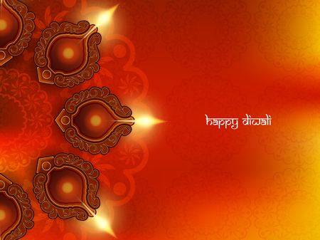 culture: Happy Diwali background design. Illustration