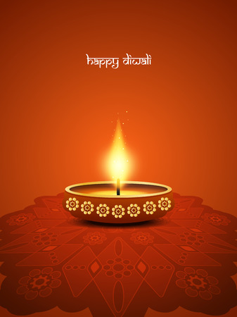 religious celebration: Happy Diwali background design. Illustration
