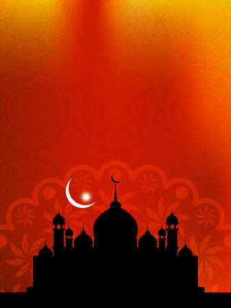 vector backgrounds: Beautiful Islamic background with mosque.