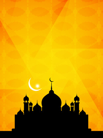 beautiful allah: Beautiful Islamic background with mosque.
