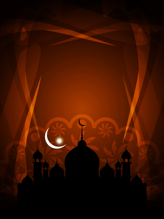 pray: Beautiful Islamic background with mosque.