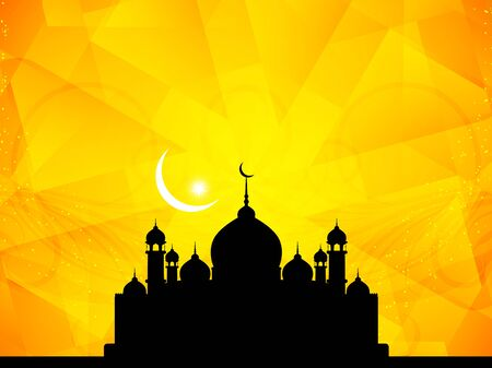 holiday celebrations: Beautiful Islamic background with mosque.