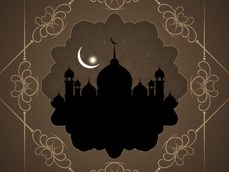 mosque: Beautiful Islamic background with mosque.