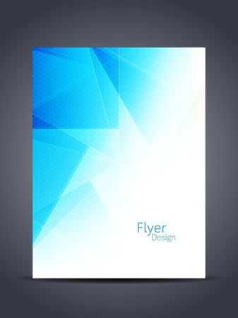 Presentation of elegant flyer or cover design template.