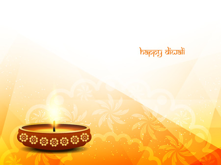 Religious happy diwali vector background design. Stock Vector - 45155731