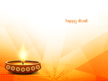 religious celebration: Religious happy diwali vector background design. Illustration