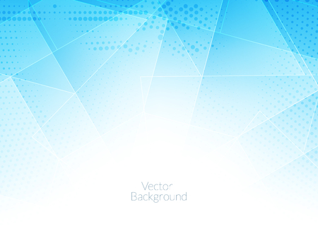 creative industry: elegant blue color background with polygonal shapes.