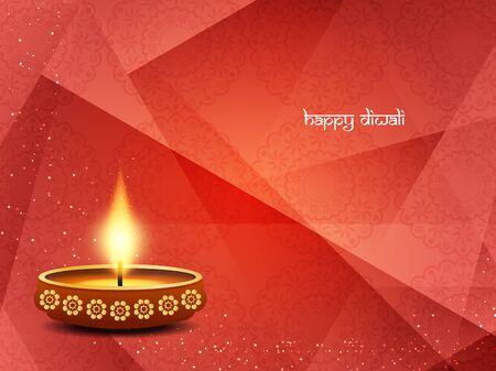greeting season: Religious happy diwali vector background design. Illustration