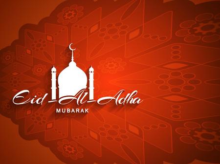 adha: Beautiful Eid Al Adha mubarak religious background design. Illustration