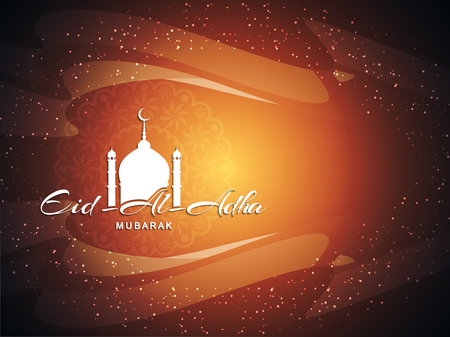 religious: Religious Eid Al Adha mubarak background design.